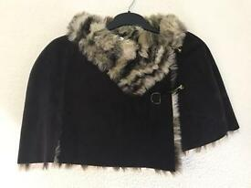 DENTS Faux Fur Shrug - Size LARGE