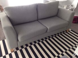 3 seater grey sofa - from show flat - only 1 year old - AS NEW - pick up only