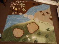 Childrens ikea river rug