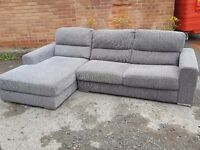 Superb 1 month old grey fabric corner sofa. used for few days.clean and tidy. can deliver
