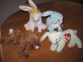 Ty Beanie Baby Rabbits