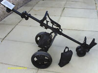 """MAXIM"" ELECTRIC GOLF TROLLEY WITH BATTERY AND CHARGER"