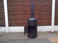 Gas bottle woodburner / stove / chimnea / incinerator / prepping / camping / builders
