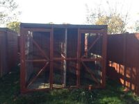 8 x 6 kennel block with 8 foot run - the buyer to dismantle and take away