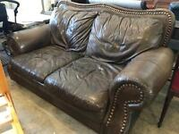 Stunning leather 2 seater sofa