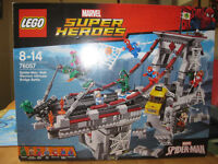 Marvel Superheroes lego set: Spiderman web warriors bridge battle BRAND NEW.
