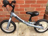 """Adventure Zooom zoom children's balance bike 12"""" wheel, silver"""