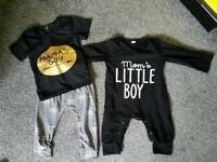 Beautiful baby boy clothes.