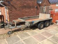 Ifor Williams plant trailer. 8x4