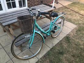 Tiger traditional ladies women's bike with basket. Barely used
