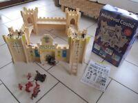 Wooden children's medieval castle