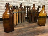 Collection Large Brown Bier Keller Bottles & Crates