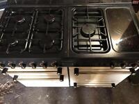 Rangemanster dual fuel gas and electric cooker ceramic halogen cream 110cm
