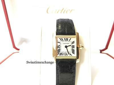 CARTIER TANK FRANCAISE 18K YELLOW GOLD  W5000256 CARTIER BOX !!!