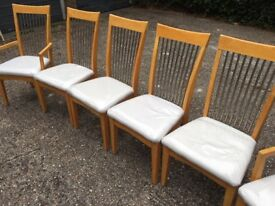 Good condition table and six chairs