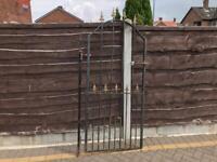 Wrought iron pedestrian gate