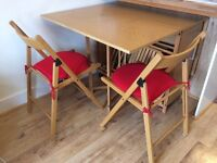 Rectangular Folding Table And 4 Chairs