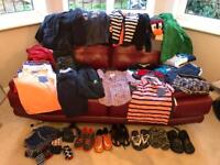 Large Bundle of Boys Clothes Age 7-8. 40+ items. Lots of Next but also Northface, Monsoon. VGC