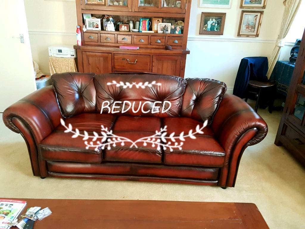 Offers Acccepted Saxon Leather Sofa Suite