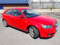 2006(06)AUDI A3 1.6 SPORT BRIGHT RED,AIRCON,ALLOYS,CHEAP CAR
