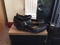 Black Clarks Buckle Shoe