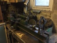 """4' Lathe. 7"""" Swing. With Accessories"""