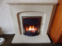 Electric coal effect fire and surround