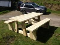 Heavy-duty picnic tables