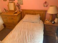 Solid Oak Bedroom Furniture - 4 Pieces