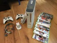 Xbox 360, fully working, games, 2 controls
