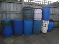 Collection of 9 Water Butts Barrels