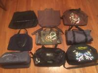 Job lot of 9 designer bags. All are new apart from the bowling ball bag. Buyer must collect.