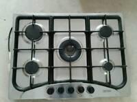 Gas 5 burner hob Stainless Steel