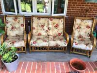 Three pieces garden chairs