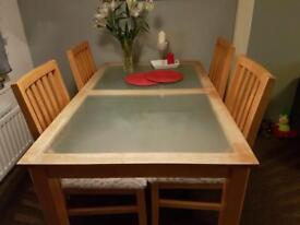 Donning table