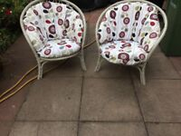 Conservatory chairs and settee