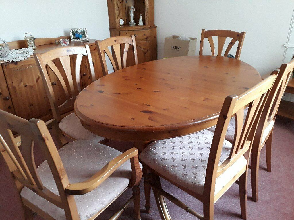 Antique Pine G PlanExtending Dining Table & Chairs ...