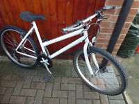 Ladies mountain bike with brand new back tyre