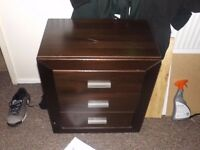 set of drawers in brown