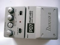 Ibanez PD7 Tone-Lok Phat Hed Bass Overdrive stompbox/pedal/effects unit for electric bass guitar