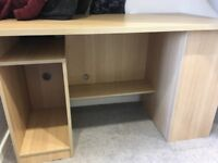 Wood effect desk - great condition, only missing small door that we've never used !