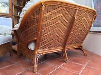 Set of cane conservatory furniture
