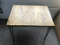 Light oak finished work/study desk with brand new 3-pin black legs included. £85 ono