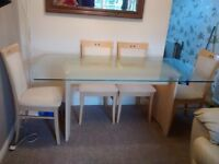 Glass dining table SOLD