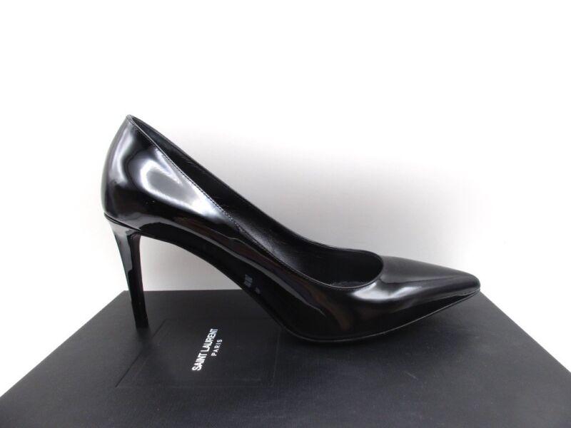 Saint Laurent YSL Paris 80 Skinny Classic Pumps Shoes Patent Black 40 10