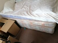 Divan Double bed and mattress - free to collect in Fareham. Good condition . ready to collect.