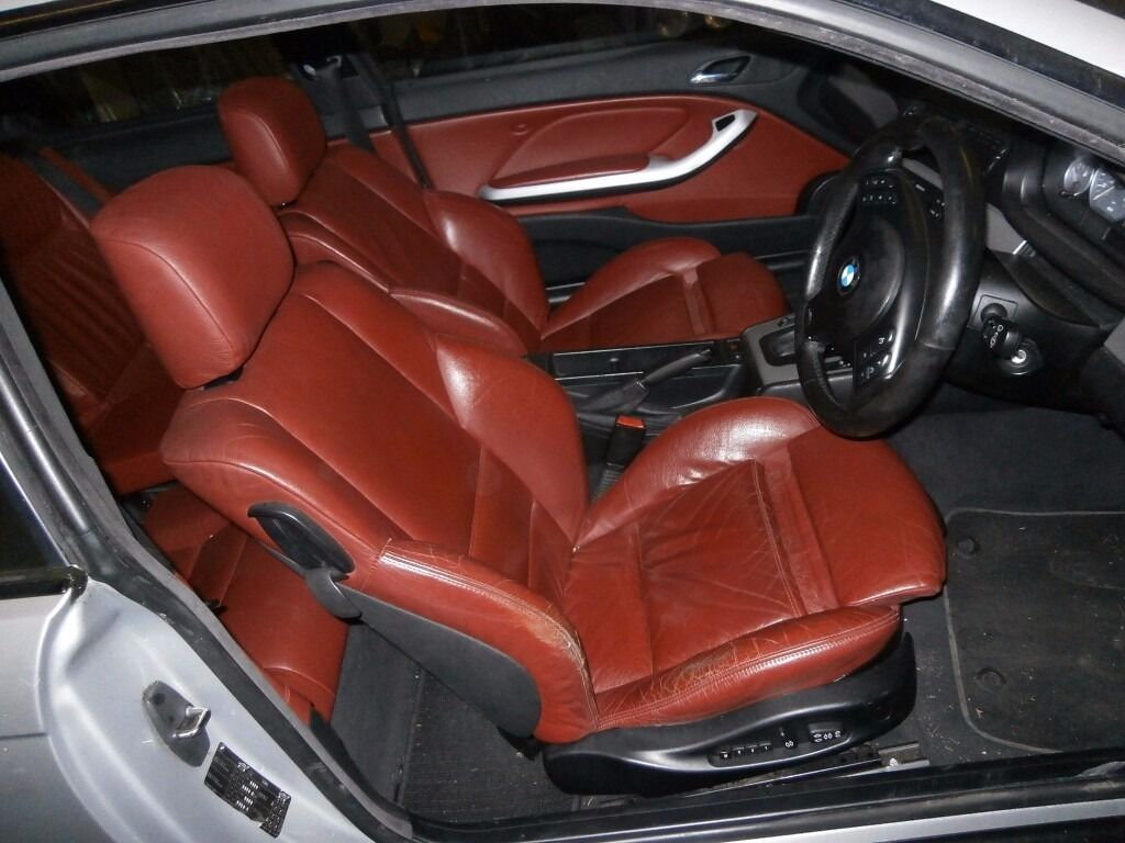 Rare 3 Series E46 Coupe Sport Imola Red Leather Interior Set Door Cards In East Ham London