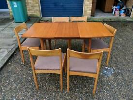 1960s Teak Table &6 Chairs