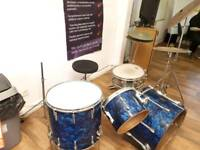 Vintage 1960s Blue Pearl Premier Drum Kit