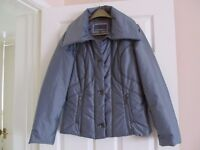 M&S Per Una Ladies lightly padded Silver Grey Jacket Size S
